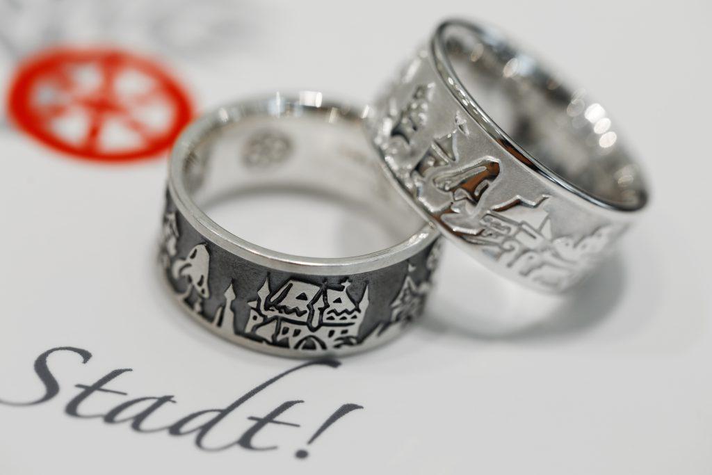 Osnabrück Ring, Juwelier, Schmuck, Ring, Stadtsilhouette, Bürgerstiftung